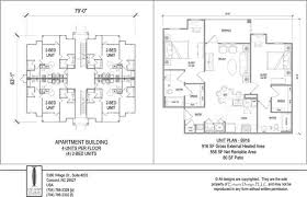 Multi Unit Apartment Floor Plans Student Housing