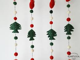 Christmas Wall Pictures by Handmade Christmas Wall Hanging Decor Santa Hearts Trees