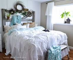 funky bed headboards white trash bedroom reveal with old door and trendy i with funky bed headboards