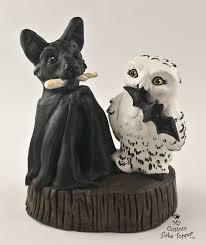 owl wedding cake topper bat and owl wedding cake topper my custom cake topper
