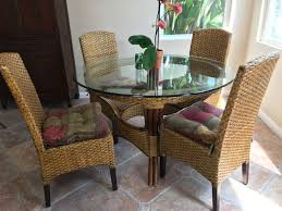 pier 1 glass top dining table indonesian pier 1 imports glass top round dining table with 4