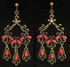 Beaded Chandelier Clip Earrings White Whimz Clip Earrings Women U0027s Non Pierced Clip On Earrings