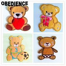 imagenes animadas oso obediencia parches hierro en coser oso de dibujos animados bordado