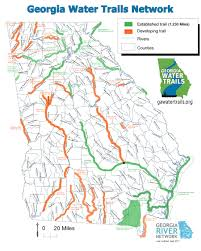 Georgia Counties Map Georgia Water Trails