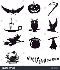 halloween silhouette icons vector image 1483369 stockunlimited