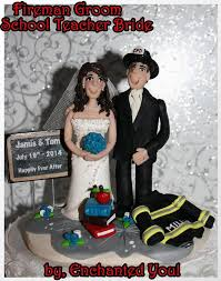 fireman wedding cake toppers wedding cake topper fireman groom persoanilzed