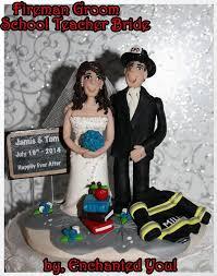 fireman wedding cake toppers wedding cake topper fireman groom persoanilzed