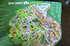 San Diego Safari Park Map by Brunette Bullet September 2013