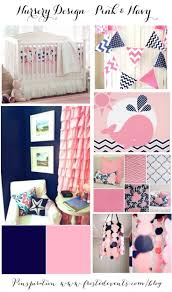 Bright Pink Nursery Crib Bedding Sets For Boys Baby And Gold