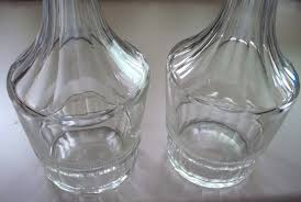 Baccarat Bud Vase Pair Of Baccarat Type Crystal Decanter Bottles Perfect 10 5