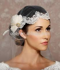 2014 modern stunning white feather flower wedding headpiece