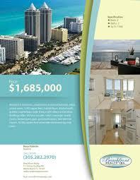 miami real estate flyer khronos design