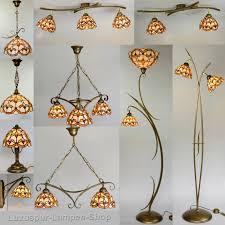 Wohnzimmerlampe 5 Flammig Deckenstrahler Im Tiffany Stil