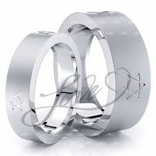 his and wedding rings solid david s 7mm his and 5mm hers wedding ring set