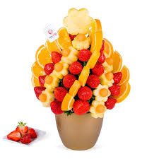 eligible arrangements fruit party flowers
