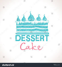 wedding cake logo cake dessert vector logo template stock vector 417223963