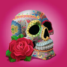 create dia de los muertos decorations on a skull in adobe