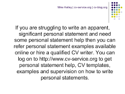 how to write a personal statement for a cv