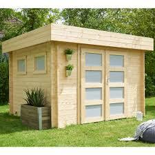 abris de jardin madeira abri de jardin bois 9 52 m ep 28 mm toit plat kivik plantes et