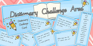 Challenge Dictionary Challenge Area Pack Dictionary Challenge Areas