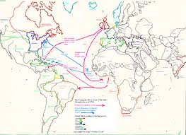 Triangular Trade Map Slave Trade Triangle Image Information