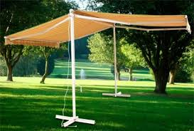 Motorized Awning Free Standing Motorized Double Sided Retractable Awning W Remote