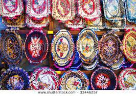 turkish decorative porcelain object grand bazaar stock photo