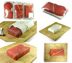 themed wrapping paper give a gift wrapped in meat from gift couture gift wrapper meat
