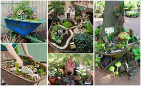 Diy Garden Ideas Diy Miniature Wheelbarrow Garden Ideas And Projects