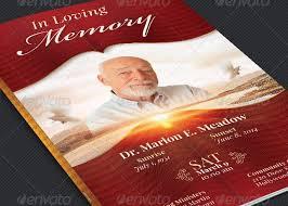 modern funeral programs loving memory funeral program template inspiks market
