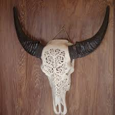 intricately carved water buffalo head home decor my spirit