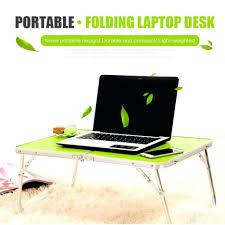 Folding Bed Table Desk Bed Table Portable Folding Storage Laptop Travel Lap