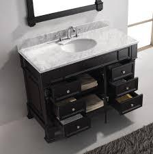 48 single sink vanity with backsplash perspective dark bathroom vanity virtu usa huntshire manor 48 single