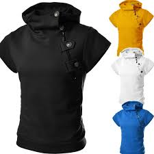 brand free shipping 2017 zip button slim fit mens short sleeve