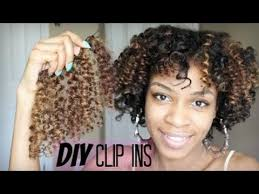 how to fix kinky weave on natural hair how to make diy curly clip in hair extensions for natural hair