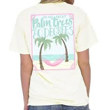 southern prep palm tree sleeve t shirt angela