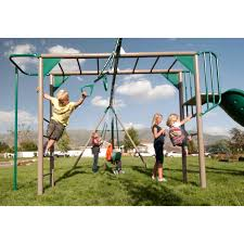 Metal Backyard Playsets Lifetime Monkey Bar Adventure Set Hayneedle