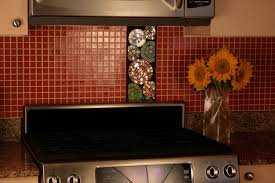 kitchen nice residential kitchen interior with tile red