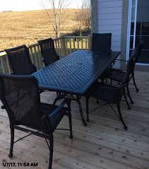 Patio Table 6 Chairs Delivery U0026 Installation Of Gensun Grand Terrace Patio Furniture In