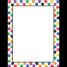 paw print sheets colorful paw prints computer paper tcr4769 created resources