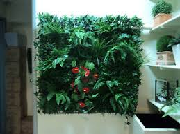 vertical garden wall garden panel artificial plants ebay