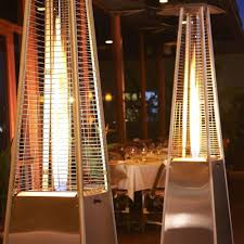pyramid patio heater cover lifestyle tahiti flame heater stainless steel 13kw patio heater