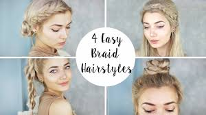 hairstyles quick and easy to do m 4 cute braid hairstyles quick easy youtube