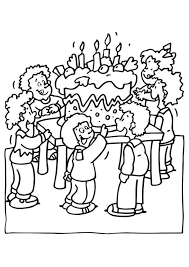 party birthday coloring pages for kids birthday coloring pages