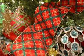 wired christmas ribbon plaid wired ribbon from the raz christmas the tree lot collection