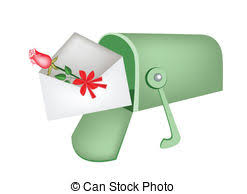clip art of letters in an open mailbox csp19051223 search