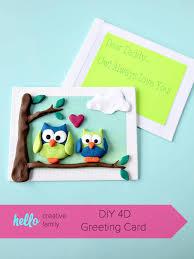 diy 4d greeting card hello creative family