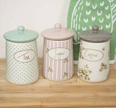 kitchen tea coffee sugar canisters set of 3 cottage flower tea coffee sugar storage jars