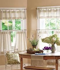 Kitchen Tier Curtains Remarkable Ticking Stripes Tier Curtains Country Trailer Decor At