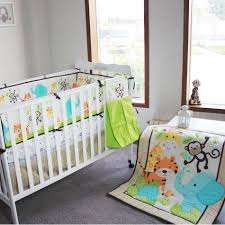 woodland animals baby bedding 2016 year baby bedding set 3d elephants monkeys tigers baby crib